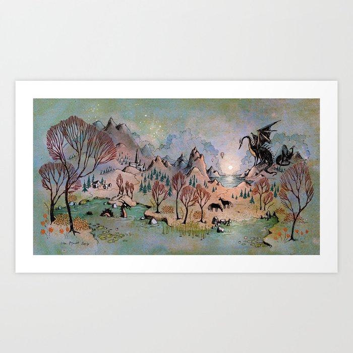 Dragon Hills Kunstdrucke