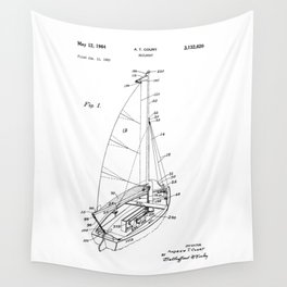 patent art Court Sailboat 1964 Wall Tapestry