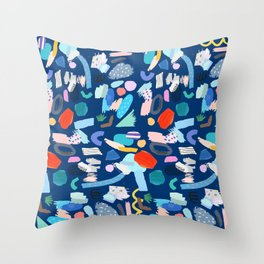 """""""Save The Earth"""" Colourful Contemporary Art Throw Pillow"""