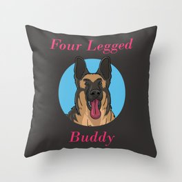 Dog German Shepherd Four Legged Buddy Throw Pillow