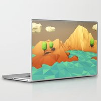 low poly Laptop & iPad Skins featuring Low Poly Landscape by error23