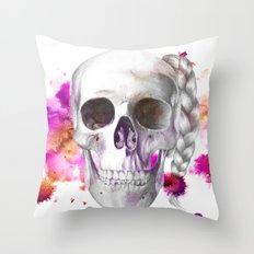Braided Skull Throw Pillow