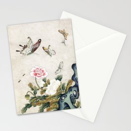 Butterflies and flowers : Minhwa-Korean traditional/folk art Stationery Cards