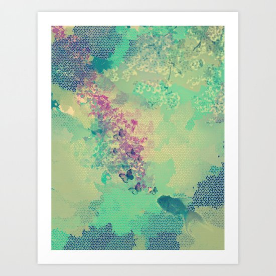 Little golden fish Art Print