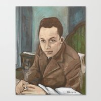 camus Canvas Prints featuring Albert Camus by Melinda Hagman
