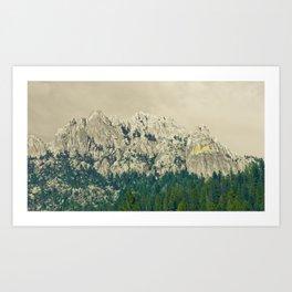 Castle Crags - California Art Print