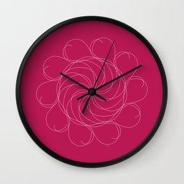 Ornament – Turning Flower Wall Clock