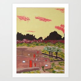 New Mexico Adobe Home Art Print