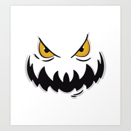 Evil face Art Print