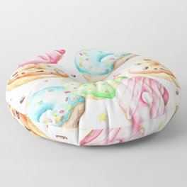 Donut Pattern Floor Pillow