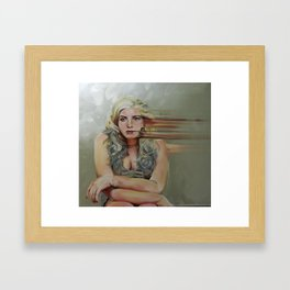 It Seems I've Lost Myself:  Self Portrait Framed Art Print