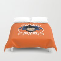 gym Duvet Covers featuring Gym G. by Buby87