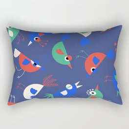 Geometric Birdies Rectangular Pillow