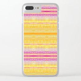 Summer Stripe Clear iPhone Case