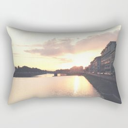 sunset on the Arno Rectangular Pillow