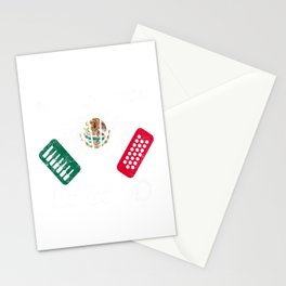 Funny Air Accordion Legend graphic Gift Mexican Flag print Stationery Cards