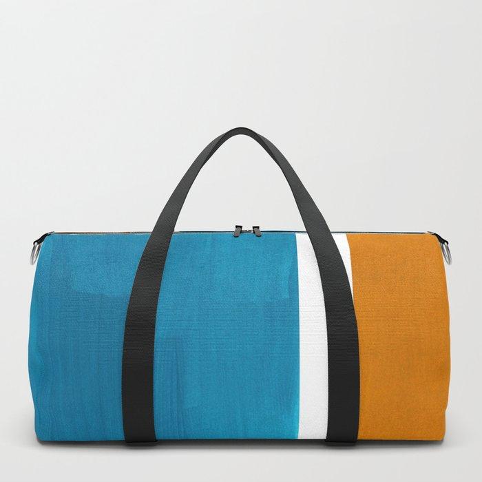 Rothko Minimalist Mid Century Modern Vintage Colorful Pop Art Colorfields Dark Teal Yellow Ochre Duffle Bag