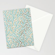 Berry Branches – Turquoise & Gold Stationery Cards