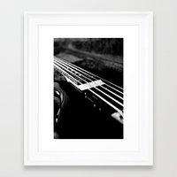 bass Framed Art Prints featuring Bass  by Lia Bedell