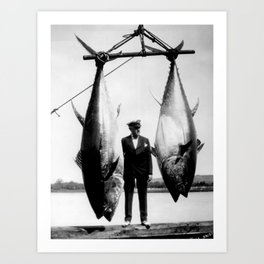 World Record Tuna - Thon record Art Print