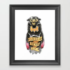 Grin and Bear It Framed Art Print