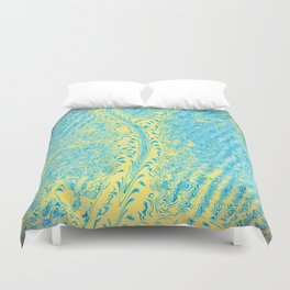 Yellow Fluid Effect Duvet Cover