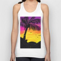 palm Tank Tops featuring palm by Mel E Hyman