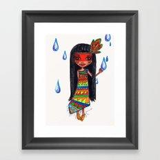A menina que chovia Framed Art Print