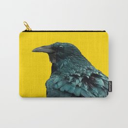 TWO CROW/RAVEN BIRD PORTRAITS & SUNFLOWERS GOLD  ART Carry-All Pouch