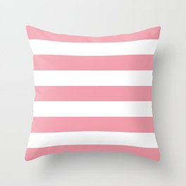 Sweet Sixteen - solid color - white stripes pattern Throw Pillow