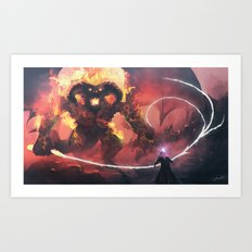 Gandalf vs Balrog Art Print