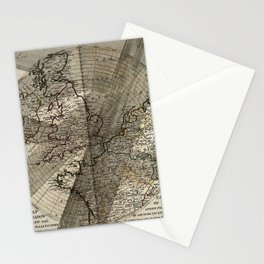 A Map Exhibiting the Dark Shadow of the Moon over England in the Five Great Solar Eclipses 1715-1764 Stationery Cards