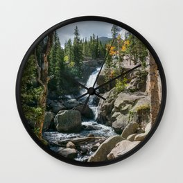 Alberta Falls Rocky Mountains Colorado, United States Wall Clock