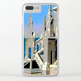 Church Overlooking the Ocean Clear iPhone Case