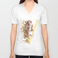 contemporary V-neck T-shirts featuring Contemporary Venus by Daniel Fernández