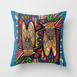 Golden Cicadas  Throw Pillow