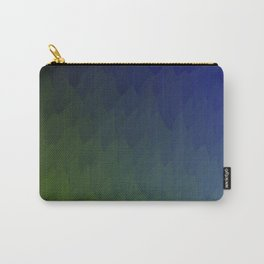 Ombre purple blue green peacock flames Carry-All Pouch