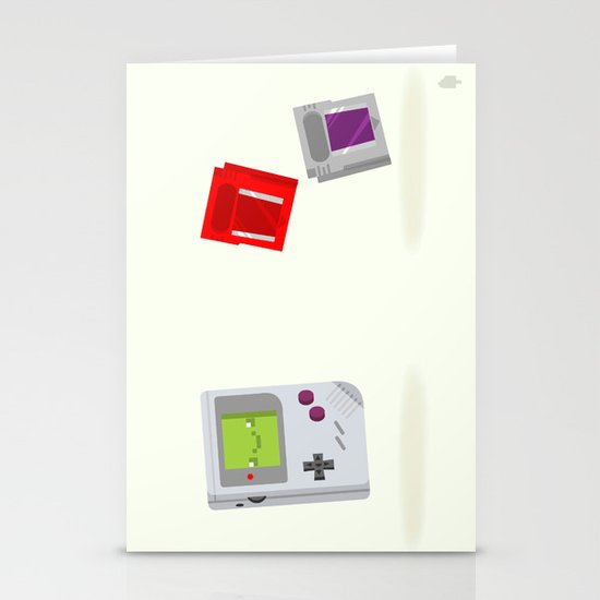 Gameboy & Games Stationery Cards