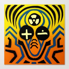 Atomic sound wave man Canvas Print