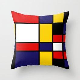 Mondrian De Stijl Modernist Inspired Abstract Art #4 Throw Pillow