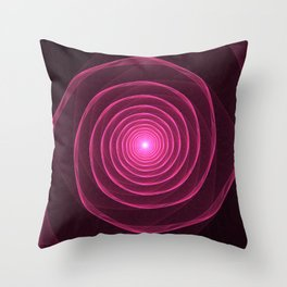 Rows of a Rose Throw Pillow