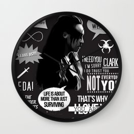 Commander Lexa - The 100 - Clexa Wall Clock