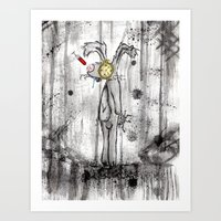 foo fighters Art Prints featuring Mr. Bunny Foo Foo by Ashleigh Ryan
