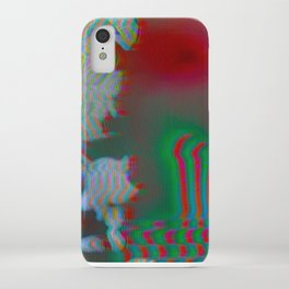 Analogue Glitch Radioactive Bouquet iPhone Case