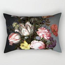 Flowers In A Vase With Shells And Insects Rectangular Pillow