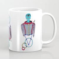alien Mugs featuring Alien by BNK Design