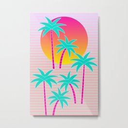 Hello Miami Sunset Metal Print