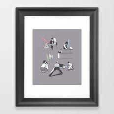 Everyday Lightsabers Framed Art Print