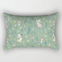 Woodland Fairy Pattern Rectangular Pillow