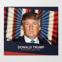 Donald Trump 2016 Canvas Print